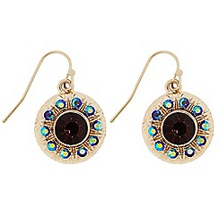 Butterfly by Matthew Williamson - Designer Red stone circle drop earrings