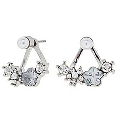 Butterfly by Matthew Williamson - Designer Mini flower and pearl front and back earring