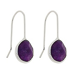 Butterfly by Matthew Williamson - Designer Purple stone peardrop earrings