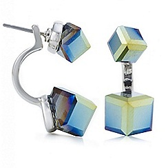 Butterfly by Matthew Williamson - Designer multi colour cube front and back earring