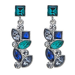 Butterfly by Matthew Williamson - Designer multi stone cluster drop earring