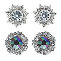 Butterfly by Matthew Williamson - Designer crystal surround multi stone earring set