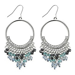 Butterfly by Matthew Williamson - Designer beaded hoop drop earring