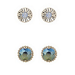 Butterfly by Matthew Williamson - Designer multi tone stud set