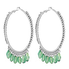 Butterfly by Matthew Williamson - Designer green bead hoop earring