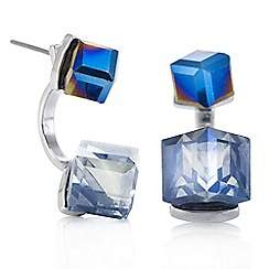 Butterfly by Matthew Williamson - Designer blue crystal cube earring