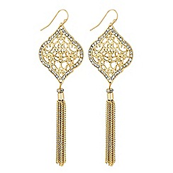 Butterfly by Matthew Williamson - Designer gold filigree crystal earring