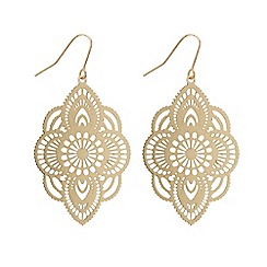 Butterfly by Matthew Williamson - Designer gold filigree drop earring