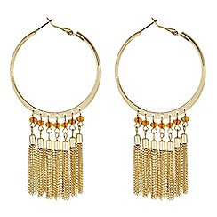 Butterfly by Matthew Williamson - Designer gold beaded hoop earring