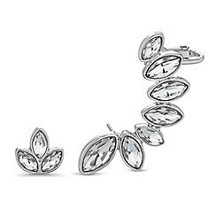 Butterfly by Matthew Williamson - Designer silver crystal earring set