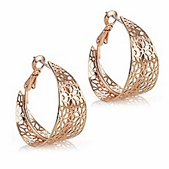 Butterfly by Matthew Williamson - Designer rose gold cut out hoop earring