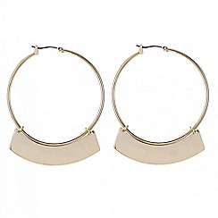 Butterfly by Matthew Williamson - Designer gold fringe hoop earring