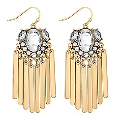 Butterfly by Matthew Williamson - Designer gold crystal stick earring