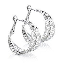 Butterfly by Matthew Williamson - Designer silver cut out hoop earring