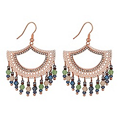 Butterfly by Matthew Williamson - Designer rose gold fan drop earring