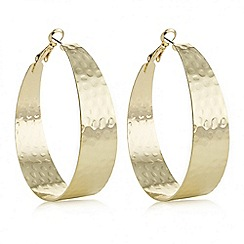 Butterfly by Matthew Williamson - Designer gold oversized hoop earring