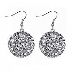 Butterfly by Matthew Williamson - Designer silver filigree disc earring