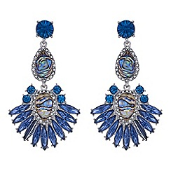 Butterfly by Matthew Williamson - Designer blue statement drop earring