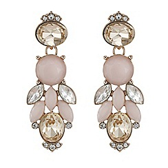 Butterfly by Matthew Williamson - Designer pink tonal crystal drop earring