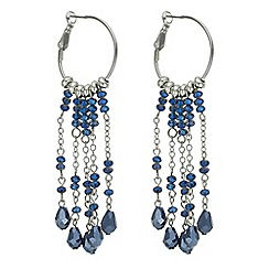 Butterfly by Matthew Williamson - Designer blue bead hoop drop earring