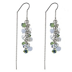 Butterfly by Matthew Williamson - Designer green tonal bead earring