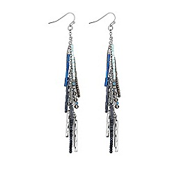Butterfly by Matthew Williamson - Blue charm drop earring