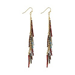 Butterfly by Matthew Williamson - Red charm drop earring