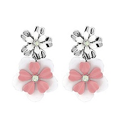 Butterfly by Matthew Williamson - Pink floral statement earring