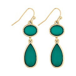 Butterfly by Matthew Williamson - Green peardrop earring