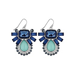 Butterfly by Matthew Williamson - Blue fan statement earring