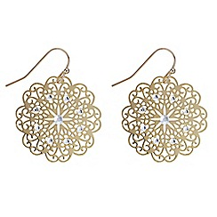 Butterfly by Matthew Williamson - Designer filigree drop earrings