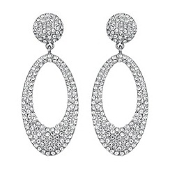 Butterfly by Matthew Williamson - Designer crystal oval drop earrings
