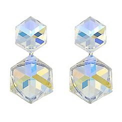 Butterfly by Matthew Williamson - Designer aurora borealis crystal cube earrings