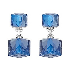 Butterfly by Matthew Williamson - Designer blue crystal cube earrings