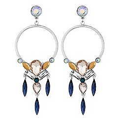 Butterfly by Matthew Williamson - Designer crystal open hoop drop earrings