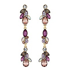 Butterfly by Matthew Williamson - Designer tonal purple crystal drop earrings