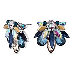 Butterfly by Matthew Williamson - Designer crystal spike stud earrings