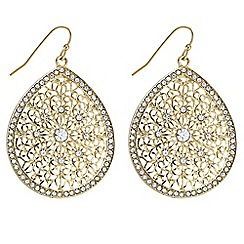 Butterfly by Matthew Williamson - Designer filigree teardrop earrings