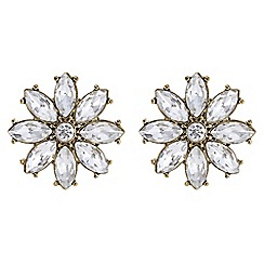 Butterfly by Matthew Williamson - Designer crystal floral earrings