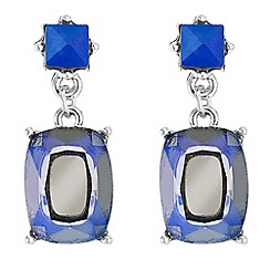 Butterfly by Matthew Williamson - Designer blue crystal drop earrings