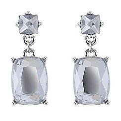 Butterfly by Matthew Williamson - Designer silver crystal drop earrings