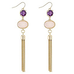 Butterfly by Matthew Williamson - Designer crystal tassel drop earrings