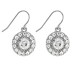 Butterfly by Matthew Williamson - Designer mini crystal disc earrings