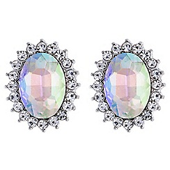 Butterfly by Matthew Williamson - Designer aurora borealis oval earrings