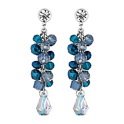 Butterfly by Matthew Williamson - Designer blue bead drop earrings