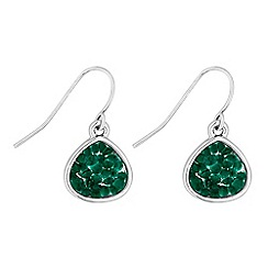 Butterfly by Matthew Williamson - Designer green crystal peardrop earrings