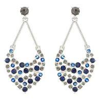 Mood Crystal rainbow chandelier earrings   Debenhams