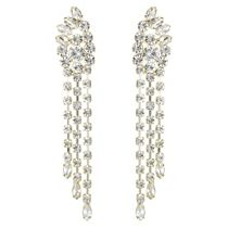 Lipsy Crystal chainmail statement earrings   Debenhams