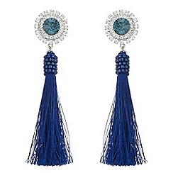 Butterfly by Matthew Williamson - Designer crystal tassel drop earrings