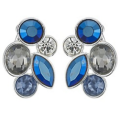 Butterfly by Matthew Williamson - Designer tonal blue crystal earrings